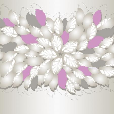 Zilver en roze bloemen en bladeren cover van het boek of wenskaart Deze afbeelding is een vector illustratie Stock Illustratie