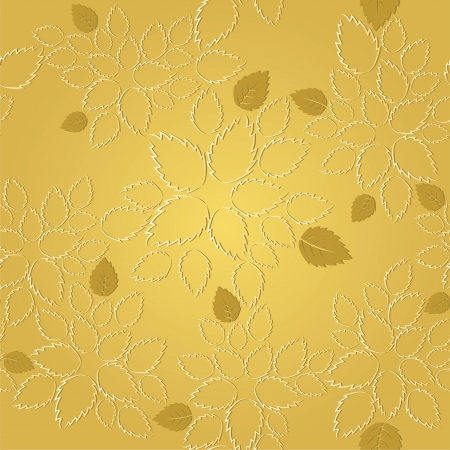 Seamless golden leaves lace wallpaper pattern Stock Vector - 20277142