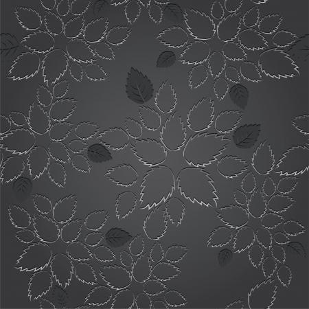 Naadloze zwarte bladeren lace behang patroon. Deze afbeelding is een vector illustratie.