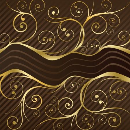 Luxe koffie menu of chocolade deksel in bruin en goud