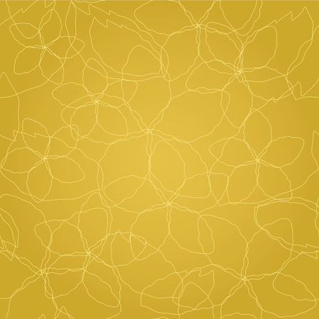 Seamless floral golden lines wallpaper pattern. This image is a illustration.