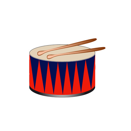 Vector illustration  of a bass drum.