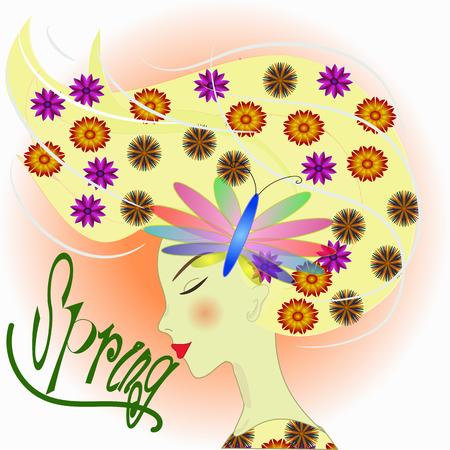 spring: spring women Illustration