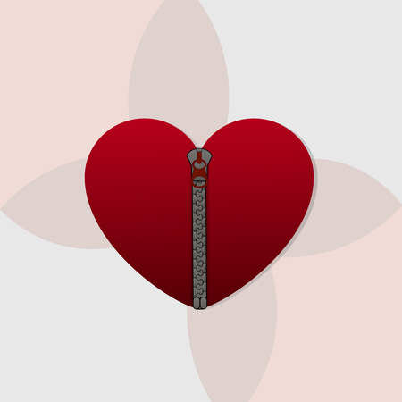 zipped: Closed heart with zipped,