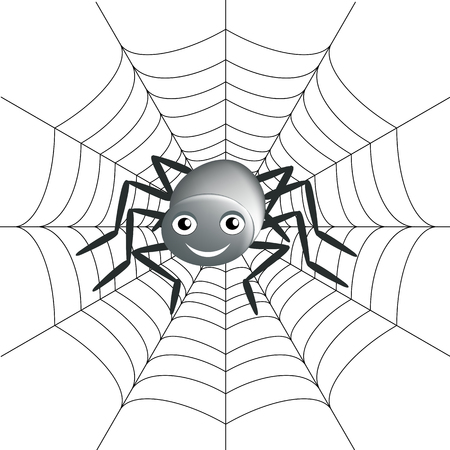 spidery: Background with spider and spider line