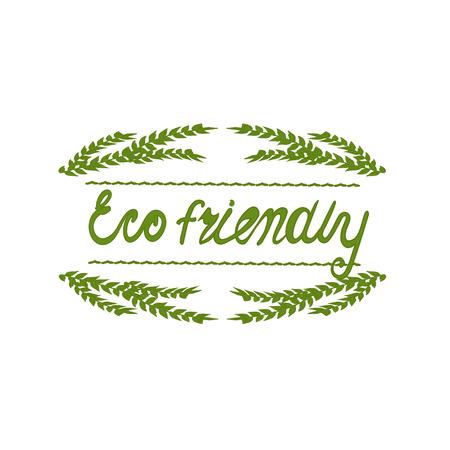 Background with word eco. Farm product labels. Eco  friendly. Illusztráció