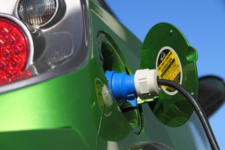 electric car refuel with power  Stock Photo - 7976084