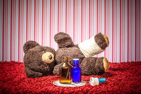 globuli: Teddy is sick