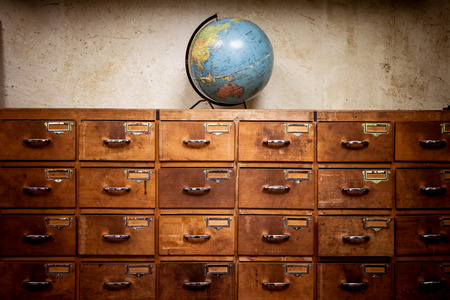 Globe and apothecary cabinet