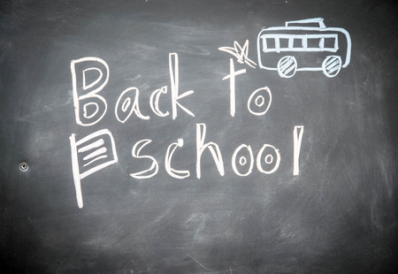 back to school chalk Stock Photo