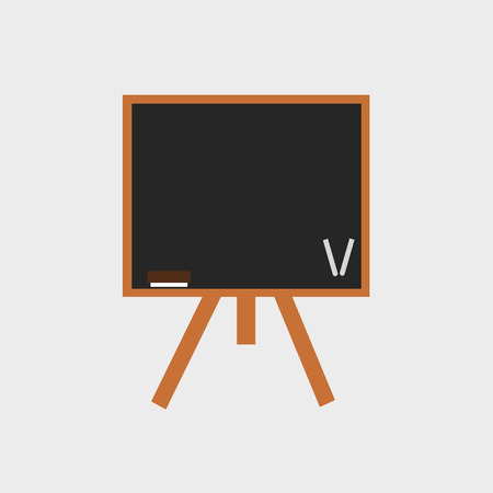 board: black board on tripod Illustration