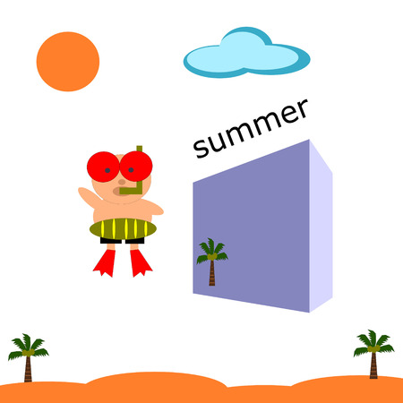childen: drive on summer