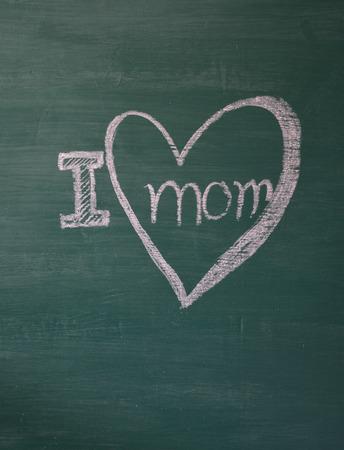 i love mom Stock Photo