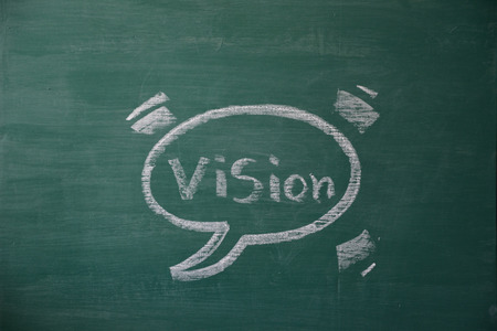 chat box: vision in chat box Stock Photo