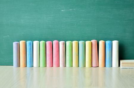 green board: multicolor chalk on green board