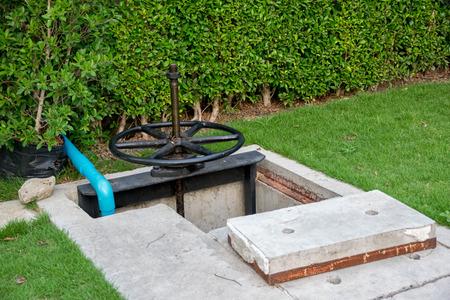 water garden: water Hose from a pump