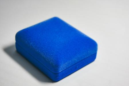 blue velvet: Blue velvet jewelry box. Close up picture of blue velvet box.