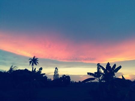 lenticular: Lenticular cloud in sunset time.