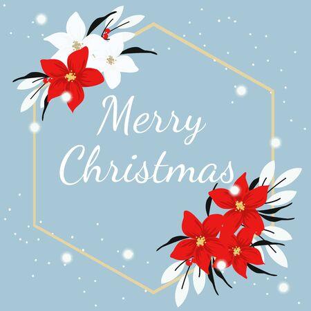 Christmas Wreath flower Branches. Illusztráció