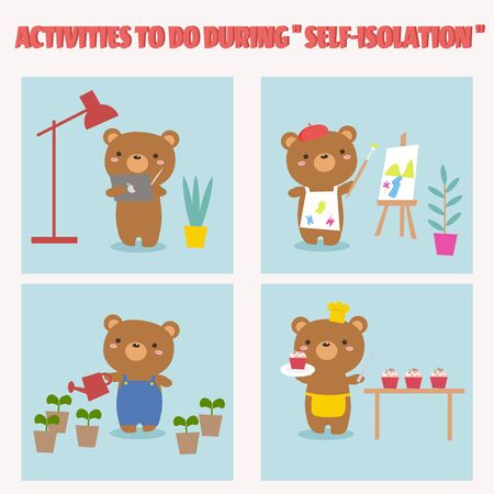 Activities during self-isolation. Covid-19