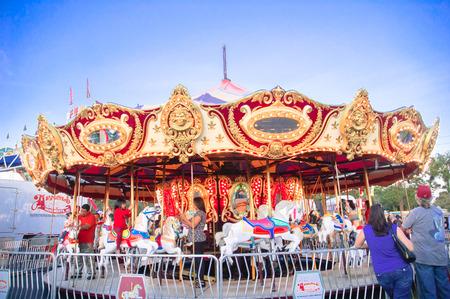 merry go round: Merry Go Round on the blue sky background