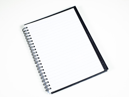 ruled paper: The black notebook with ruled paper