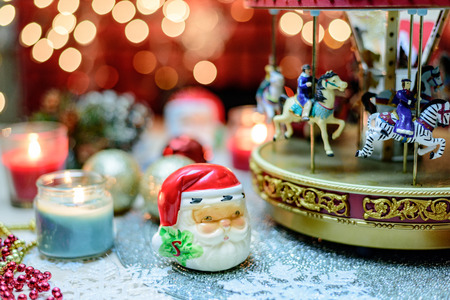 merry go round: Merry Go Round and candles Christmas Decoration