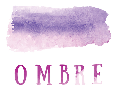 ombre: Ombre Watercolor paint on the white background vector file Illustration