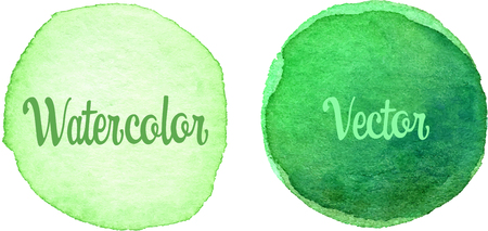 cadmium: Lime Green Watercolor texture painted on the white background Illustration