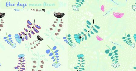 budding: Evolvulus glomeratus,blue daze, evolvulus sureface pattern design for summer season
