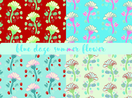 Evolvulus glomeratus,blue daze, evolvulus sureface pattern design for summer season