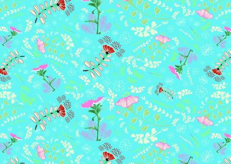 Evolvulus glomeratus,blue daze, evolvulus sureface pattern design for summer season