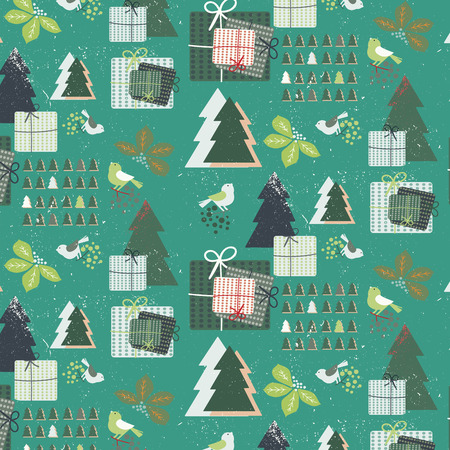 whimsical pattern: Whimsical Christmas Festive Seamless Pattern features the white snow texture