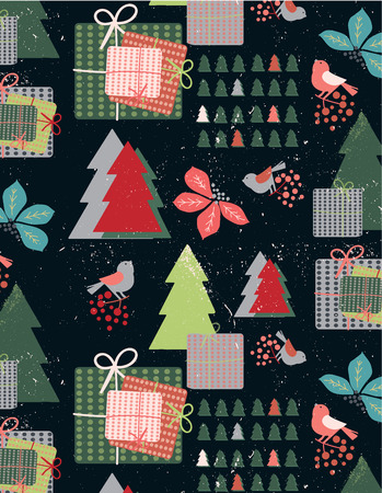 Whimsical Christmas Festive Seamless Pattern features the white snow texture