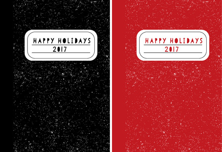 Whimsical Happy Holidays classic student or office Journal book design card on the texture.