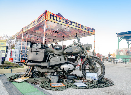mini bike: Clearwater,FL-FEB 19,2017;The Florida Motorcycle Expo and Bike Builder Invitational get underway at Quaker Steak and Lube,49th St. N.,Clearwater,FL-Feb 19th,2017 Editorial