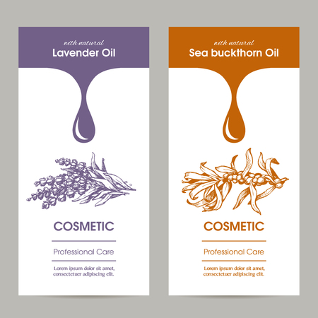 Vector Set Of Templates Color Packaging Hair Care Cosmetic, Label ...