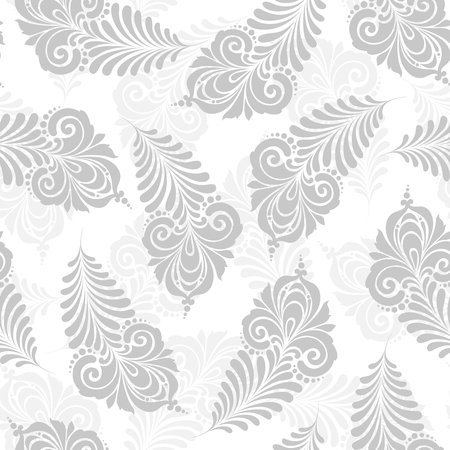 Seamless pattern with decorative feather