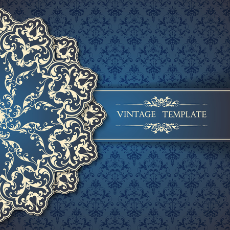 Luxury template with ornate design element