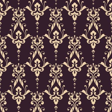 Seamless damask pattern. Ornamental background with lace elegant pattern Stock Illustratie