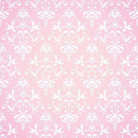 Seamless damask pattern. Ornamental lace background with pattern Stock Illustratie