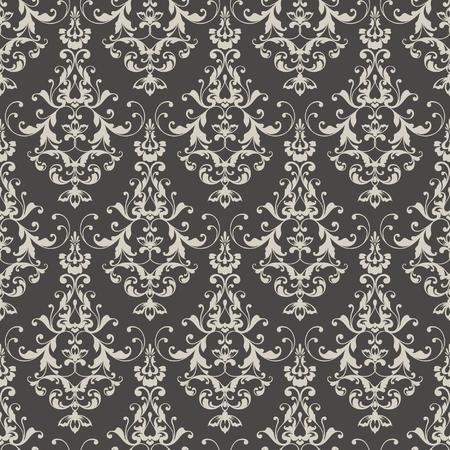 Seamless damask pattern. Ornamental background with pattern. Stock Illustratie