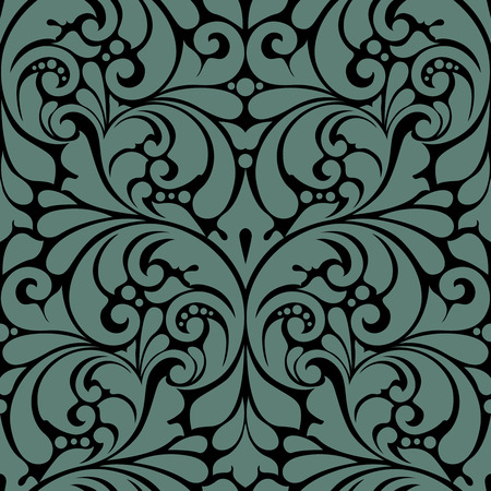 Seamless abstract pattern. Background with floral ornament.