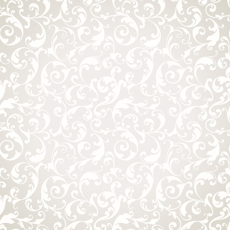 Vector light wedding background Seamless abstract pattern. Ornamental background with elegant pattern.