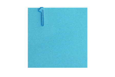 First step - Post it note with number 1 clip and space for text - isolated on white