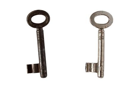 Isolated old keys photo