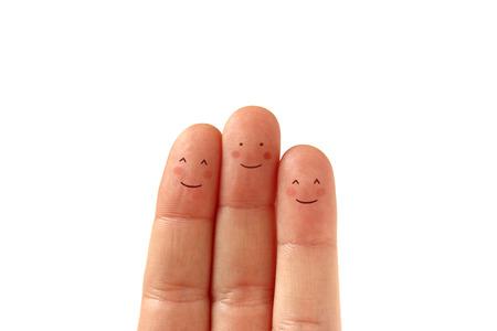 Three happy fingers