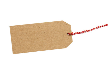Brown gift tag Stock Photo