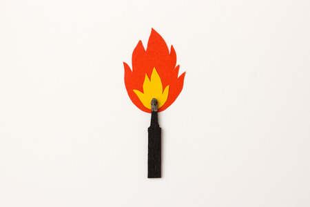 matchstick: Matchstick on fire