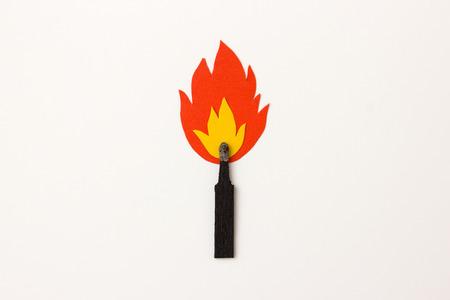 matchstick: Matchstick on fire